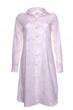 Hemdblusenkleid, bestickt, leichte Baumwolle, weiß