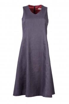 Shift Dress, Linen Graphite