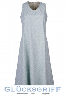 Shift Dress, Mint with Light Roses