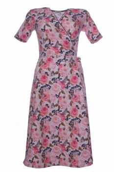 Wrap Dress made of OEKO-TEX® certified Cotton Jersey, Rose Garden