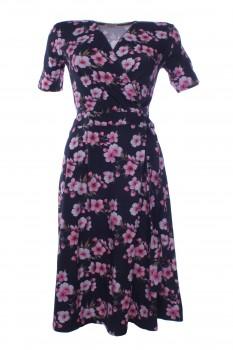 Wrap Dress made of OEKO-TEX® certified Cotton Jersey, Cherry Blossom