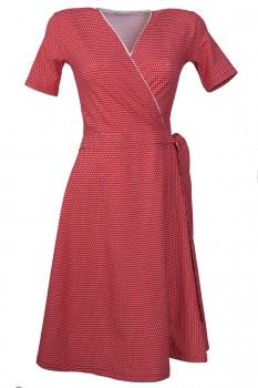 Wrap Dress, Cherry with dots, Organic Cotton