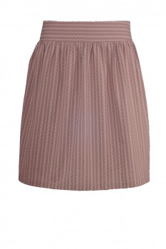 Wide Skirt, Traditional Trachten Pattern, Chocolate Brown with White Tendril