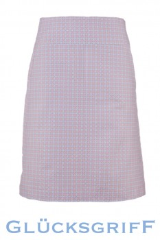 A-Line Skirt, Pink with Blossoms