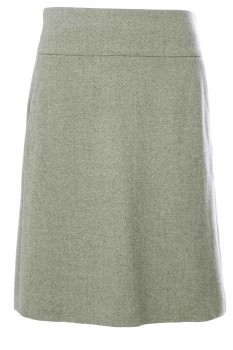 A-Line Skirt, Pastel Green, New Wool and Cashmere