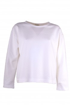 Box Sweater, Quilted, White