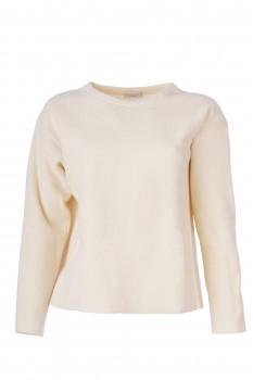 Pullover, reine Schurwolle, wollweiß