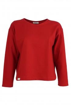 Box Sweater, Organic Cotton, Cherry