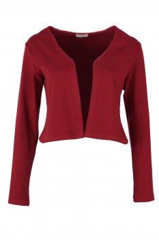 Bolero Jacket, Ruby Red, Organic Cotton