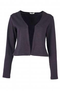 Bolero Jacket, Gray-Black, Organic Cotton