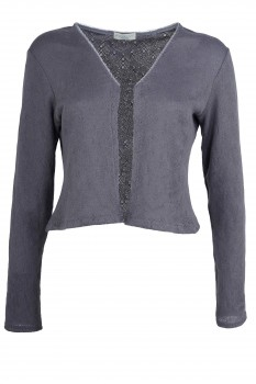 Bolero Jacket, Gray, Organic Cotton