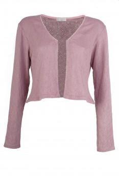 Bolero Jacket, Rose-Wood, Organic Cotton