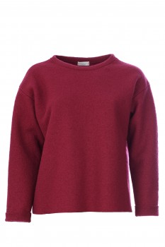 Pullover, New Wool, Cherry Red