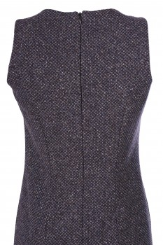 Shift Dress, New Wool with Silk, Anthracite