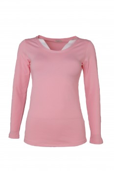 Longsleeve, made of Bio Cotton, pearl pink