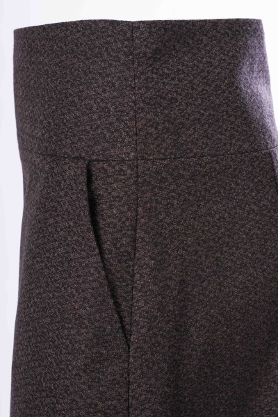 A-Line Skirt, brown, New Wool Cashmere